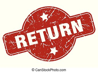 return vintage stamp. return sign