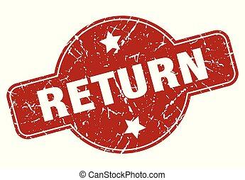 return vintage stamp. return sign