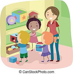 returner, legetøj