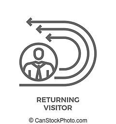 Returning visitor line icon
