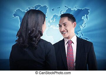 reunião casual negócio