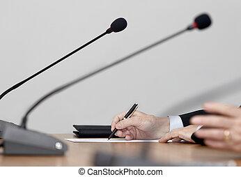 reunião conferência, negócio