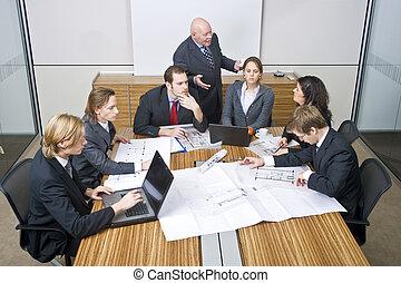 reunião, equipe negócio