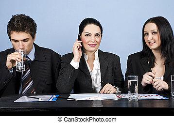 reunião escritório, comércio pessoas