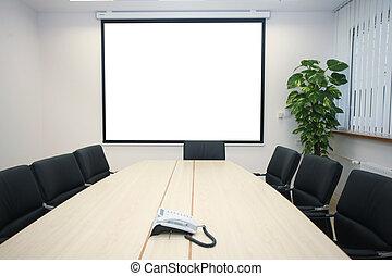 reunião, escritório, negócio