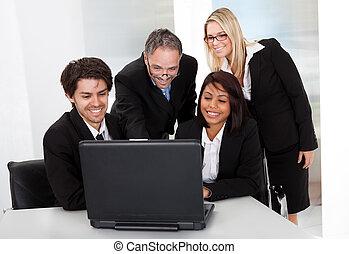 reunião, grupo, pessoas negócio