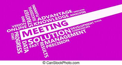reunião, idéia, negócio