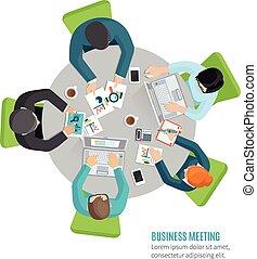 reunião negócio, apartamento