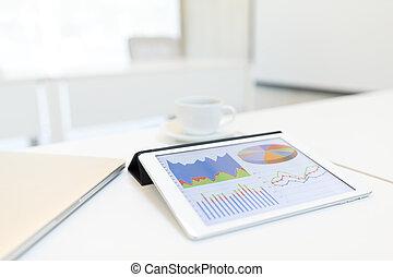 reunião negócio, com, tablete digital, computador
