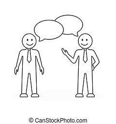 reunião negócio, illustration.