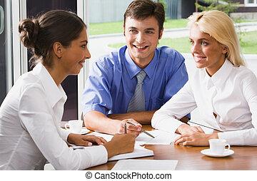 reunião, pessoas negócio