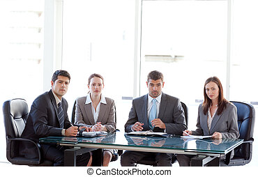 reunión, businesspeople