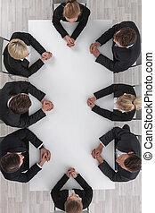 reunión, empresarios