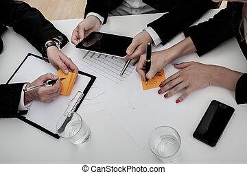 reunión equipo, empresarios
