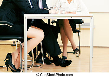 reunión, equipo negocio