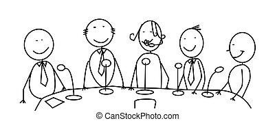 reunión, equipo
