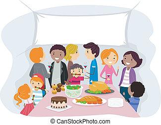 reunión, familia