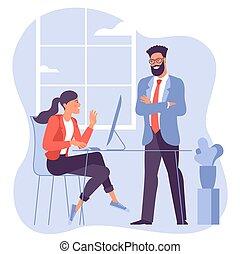 reunión, negociación, poniendo común, empresa / negocio