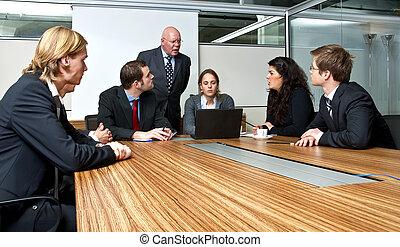 reunión, oficina