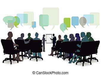 reunión, seminario