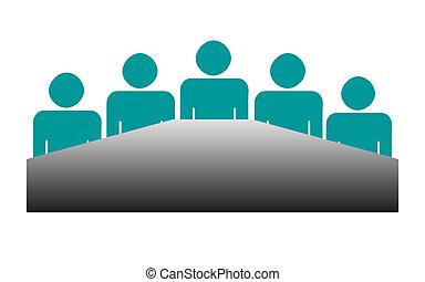reunión, tabla, empresa / negocio