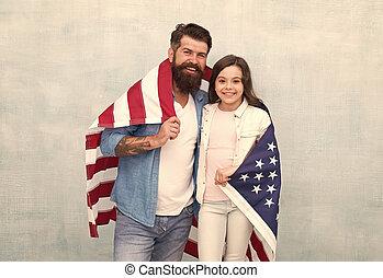 reunite, patriótico, miembros, day., familia , independencia...