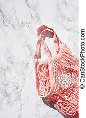reusable mesh cotton shopping bag, plastic free zero waste ...