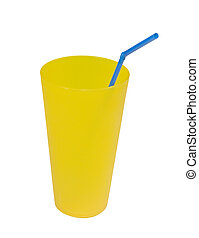 reusable plastic cup with straw - yellow reusable plastic...