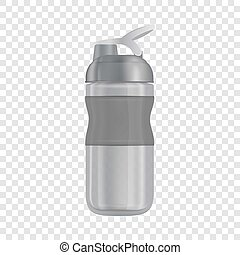 Reusable water bottle i mockup, realistic style