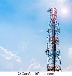 reusachtig, communicatie, antenne, toren