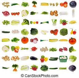 reusachtig, groente, verzameling