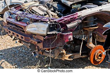 reusachtig, ongeluk, was, beschadigen, auto, waar