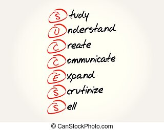 reussite, acronyme, concept, business, fond