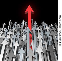 reussite, croissance, business