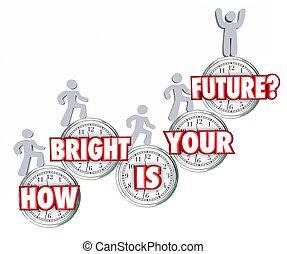 reussite, gens, prédiction, haut, comment, clair, aller, escalade, avenir, ton