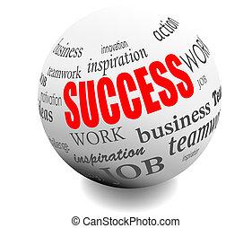 reussite, motivation, balle, business