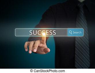reussite, recherche, business