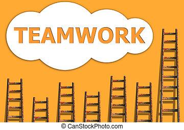 reussite, sur, collaboration, business
