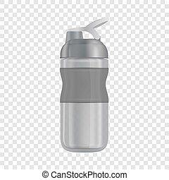 reutilizável, garrafa água, i, mockup, realístico, estilo