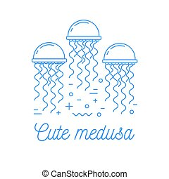revêtir art, logotype, méduse
