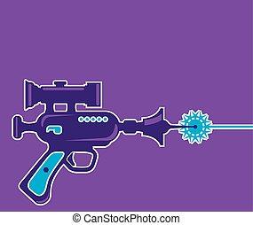 revólver laser