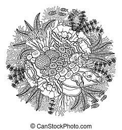 rev, korall, design