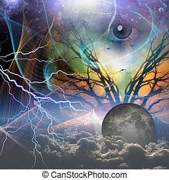 Revealing God - Hands show revealtion of power beneath