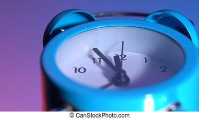 reveil, coloré, horloge, fond