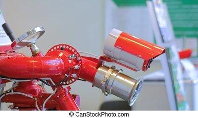 reveil, infrarouge, détection, automatique, cctv, système, appareil photo, brûler, surveillance