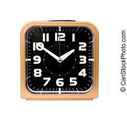 reveil, or, horloge