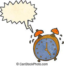 reveil, retro, dessin animé, horloge