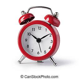 reveil, rouges, horloge