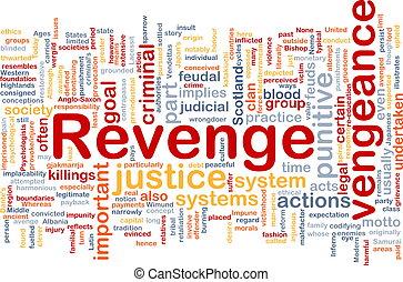 Revenge background concept - Background concept wordcloud...