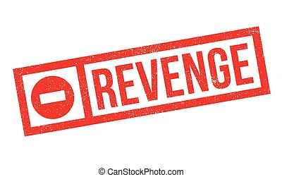 Revenge rubber stamp. Grunge design with dust scratches....